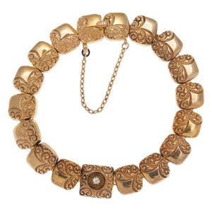 Repousse Bracelet in 14 Karat Yellow Gold
