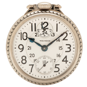 Waltham Vanguard 23 Jewel Model 1908 Pocket Watch with Wind Indicator