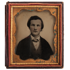 Ninth Plate Ambrotype of Confederate Officer, Possibly Henry Eustace McCulloch