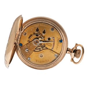 Elgin Tri-Color Hunter Case Pocket Watch Ca. 1896