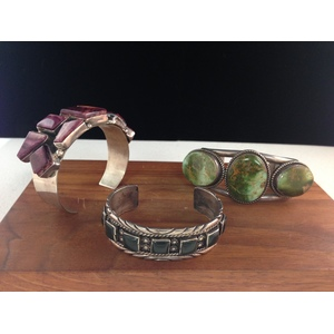 Navajo and Southwestern Sterling Silver Cuffs, From the Estate of Lorraine Abell (New Jersey, 1929-2015)