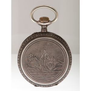 Open Face .800 Silver Oversized Pocket Watch