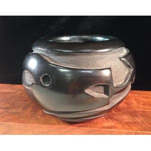 Helen Shupla (Santa Clara, 1928 - 1985) Carved Pottery Bowl