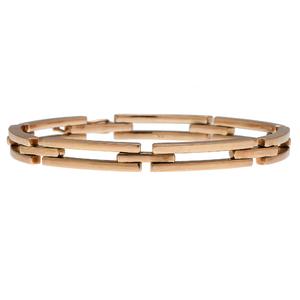 Heavy Link Bracelet in 18 Karat Yellow Gold