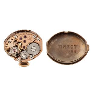 Tissot Bracelet Watch with Hidden Dial in 14 Karat Yellow Gold Ca. 1968