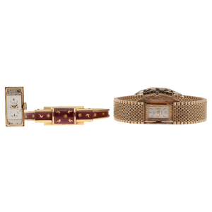 Panto Diamond Bracelet Watch in 14 Karat Yellow Gold PLUS