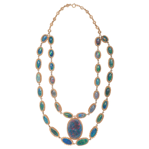 Opal Necklace in 14 Karat Yellow Gold