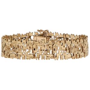 Sixtar Organic Form 18 Karat Yellow Gold Bracelet