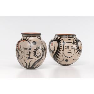Virgil Ortiz, Cochiti Pueblo Vases, Heaven and Hell