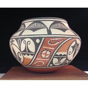 Sofia and Lois Medina (Zia, 1932-2010/ b. 1959) Four-Color Pottery Jar