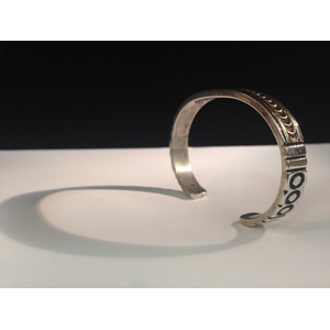 Johnathan Nez (Dine, 20th century) Sterling Silver and 14k Gold Bracelet From the Estate of Lorraine Abell, New Jersey (1929-2015)