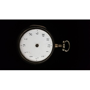 Rich Herring Paired Case Fusee Pocket Watch in Sterling Silver Ca. 1781