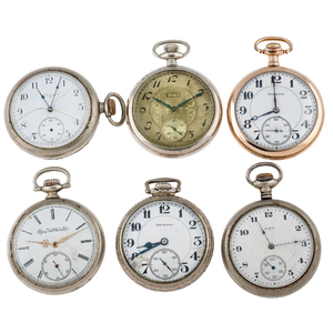 Elgin and Burlington Size 16 Open Face Pocket Watches