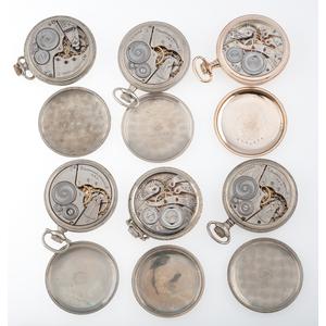Elgin and Burlington Size 16 Open Face Pocket Watches