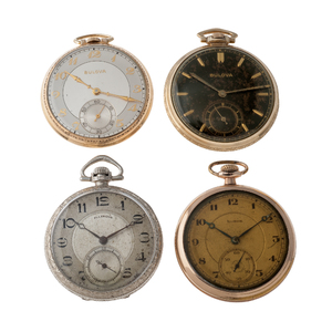 Bulova and Illinois Open Face Pocket Watches