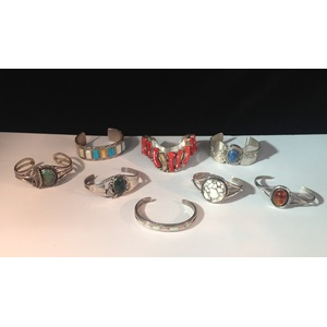 Group of Southwestern Silver Bracelets, From the Estate of Lorraine Abell (New Jersey, 1929-2015)