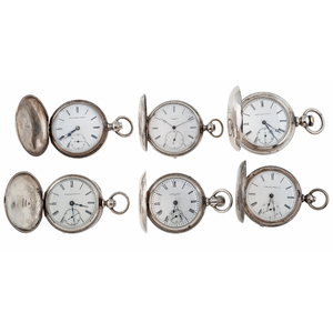 Elgin and Chas. Latour Hunter Case Pocket Watches in Silver