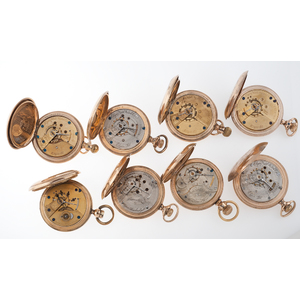 Elgin, Brauns Bros, Hampden and Columbus Watch Co Size 18 Hunter Case Pocket Watches