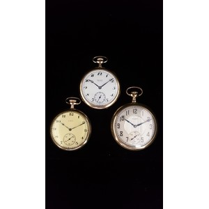 Elgin and Gruen Open Face Pocket Watches