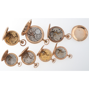 Illinois, Trenton Watch Co., Hampden and U.S. Watch Co. Hunter Case Pocket Watches