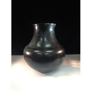 Santa Clara Blackware Pottery Vase
