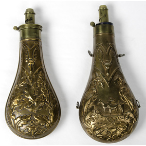 Powder Flasks, Lot of Two