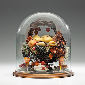 Victorian Wax Fruit Parlor Dome