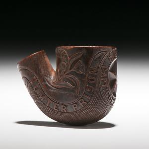 Andersonville Commandant Henry Wirz, Folk Art Carved Pipe
