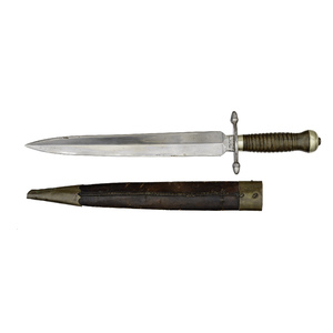 Massive Spear Point Bowie Knife by Hassam Brothers, Boston