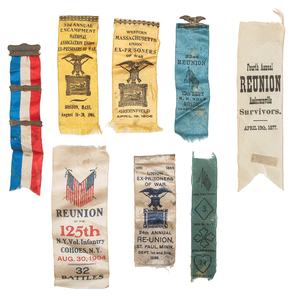 Civil War POW Reunion Badges, Including Rare Andersonville Items