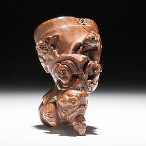 Civil War Folk Art Carved Pipe Identified to Wm. Allaw