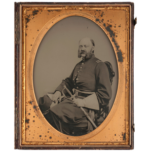 Full Plate Ambrotype of a Union Captain