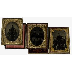 Civil War Quarter Plate Tintypes of Naval Officers and Sailors, Lot of Three