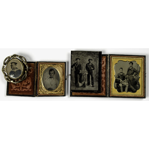 Civil War Tintypes of Sailors, Lot of Four