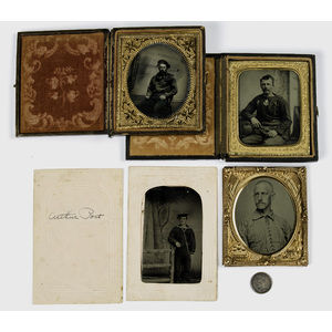 Civil War Ambrotype and Tintypes of Sailors, Two Identified, Lot of Four