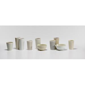 Gwyn Hanssen Pigott, Porcelain Tumblers and Bowls
