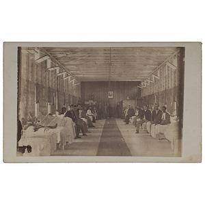 CDV of Wartime Hospital Interior