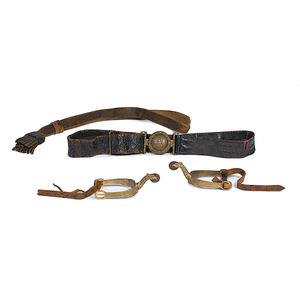 Antebellum Virginia Militia Belt, Eagle Spurs and Buff Sword Knot