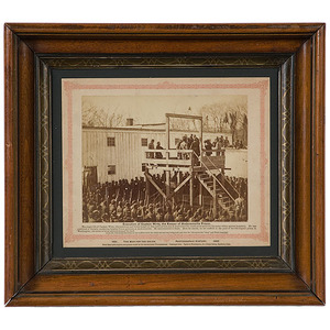 Execution of Captain Wirtz, the Keeper of Andersonville Prison,  Civil War Photograph