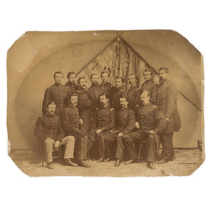 Civil War Photograph of Officers from the 44th NY Vols., Ellsworth's Avengers