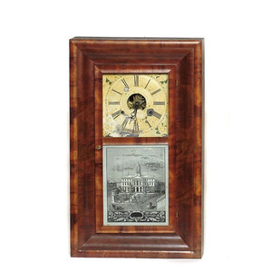 J.C. Brown, Bristol, Conn. Ogee Shelf Clock,
