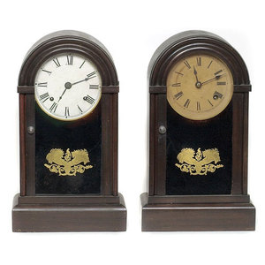 Pair of Dome Shelf Clocks,