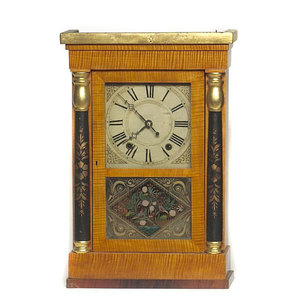 Jeromes & Darrow Bristol Ct. Shelf Clock,
