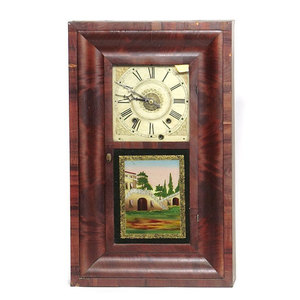 Ogee Shelf Clock, TS & A Wooden Movement,,
