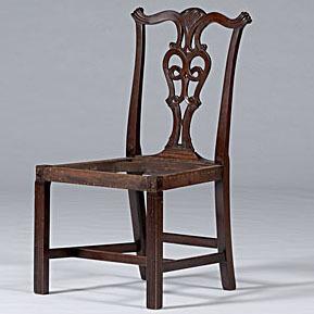 Newport, Rhode Island,  Chippendale Side Chair