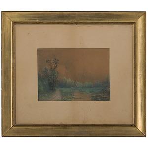 Landscape by Robert Burns Wilson, Watercolor
